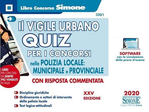 quiz per concorso Vigili Urbani, Polizia Locale, Municipale e Provinciale